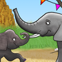 The Elephants Play Soccer by Enzil