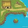 RPG Waterfall Scene PixelArt