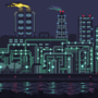 Refinery at night by Kldpxl