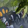 Tyrannosaurus versus Triceratops