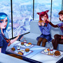 Ahri, D.va and Sona hangint out