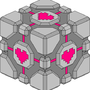 Isometric Companion Cube by Overtired