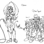 Guntanna and her minionz by ZeWitchKid