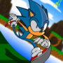 Sonic the running gif.