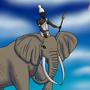 Predynastic Egyptian King on an Elephant