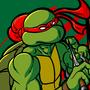Red Masked Sai Wielding Adolescent Martial Artist