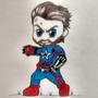 Drawing Chibi Superhero - Captain America (Infinity War)   EternalSeito