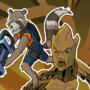 Rocket Raccoon & Groot vs Rachet & Clank