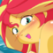 Sunset Shimmer |MLP EG| PBS Swimsuit Fanart