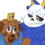 Gift for KingPug672 and HyperWolfTheHope by BubblyBlueJelly