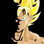 SSJ Goku by MsDBZbabe