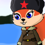Squirrely Boots in Soviet Garb