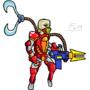 Alien soldier (drew using mouse)