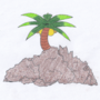 Art #76 -- Palm Atop The Rugged Embankment