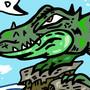 Pissed off croc