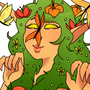 Flower Dryad by thelichwitch