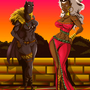Storm and Black Panther by Snakejohnson