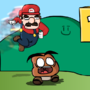 Mario vs Goomba by Eddie-Bitz990