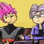 Trunks vs Goku Black