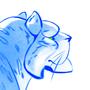 Stylized Snow Leopard