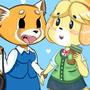 Aggretsuko & Issabelle