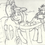 Princess Luna and her pets Derpy and Taily