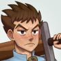 The wooden swordsman