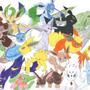 Eevee evolutions by Koyukie