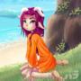 Aya at the Beach by LordValtasar