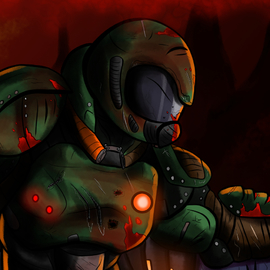 The Doom Slayer By Theicaruscrisis On Newgrounds