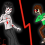Jeff teh Killer VS Chara