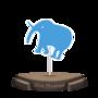 Blue Elephant Figurine