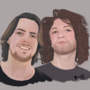 Arin and Danny Game Grumps Illustration by LunarTrashCat