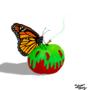 Day 4 - Inktober 2018 - Monarch - Poisson