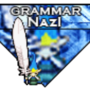 Grammar Nazi Badge (Signiture) by StickyFinguhs