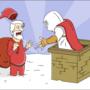 Santa meets Ezio by Wackiedk