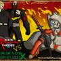 Anarchy Puppy VS Undead Zombie by TheBurningDonut