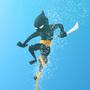 Tentacle drowning ninja! by lca
