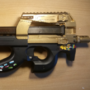 Airsoft replika of P90 painted