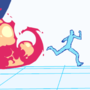 runnin from fire GIF