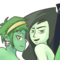The 4 green girls