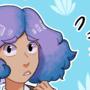 random purple hair girl by nickowl