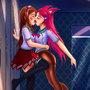 Ahri X D.va Kissing