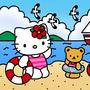 Hello Kitty Come in Beach