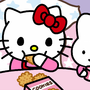 Kitty Eating Cookie