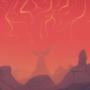 Hellish landscape