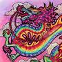 Rainbow Chinese Dragon Commission