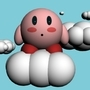 Kirby on a cloud by Jamesgudge
