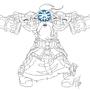 Commission - Dwarf Shaman ink by Magicalmelonball