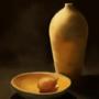 Vase and Lemon